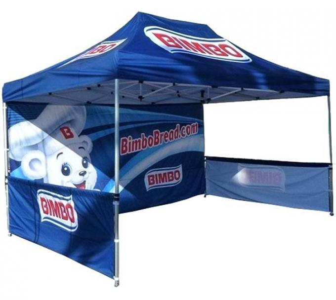 Custom Printed Small Pop Up Tent 3x4.5 Flame Retardant Marquee Promotion Canopy