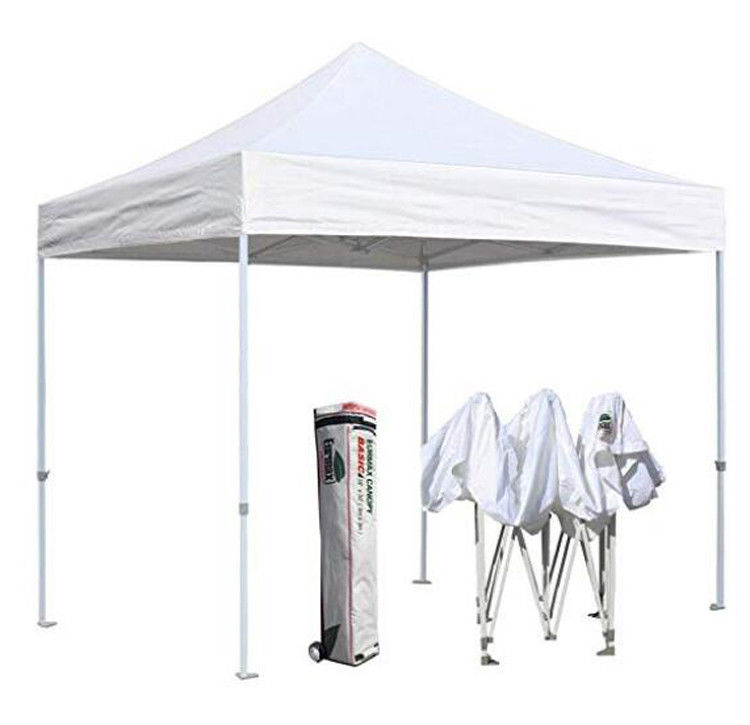 Printed Gazebo Marquee Tent White Color Strong Framework With Sunshade Cover