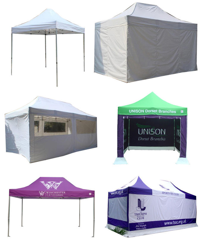 Aluminum Structure Advertising Folding Tent Custom Printed Canopy Tent 3X6